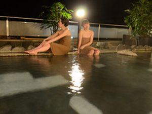 札幌定山渓温泉のピンクコンパニオン宴会・露天風呂