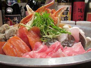 札幌海鮮居酒屋でピンクコンパニオン宴会・鍋料理