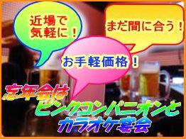 カラオケピンクコンパニオン宴会バナー